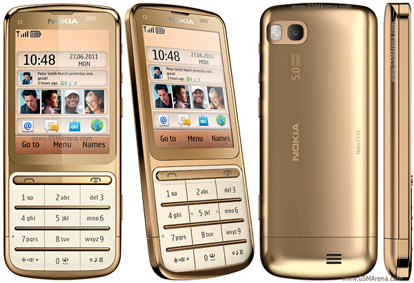 Nokia C3-01 Gold Edition wi-fi 5MP Phone Pictures/Images