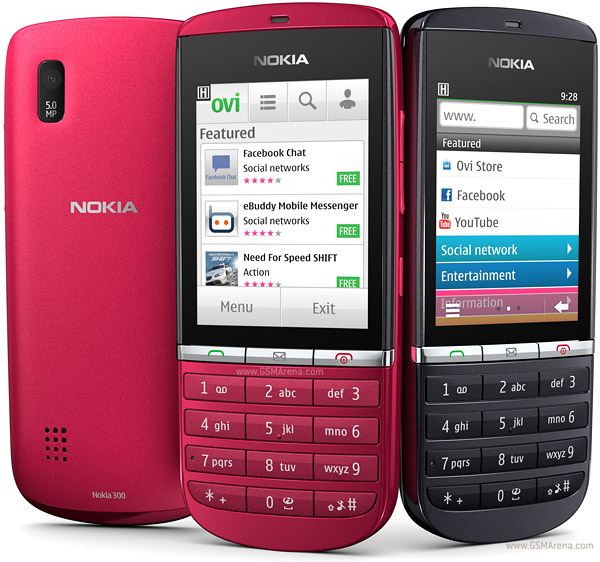 Nokia Asha 300 Touch Screen Mobile Pictures/Images