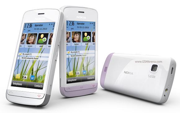 Новый Nokia C5-03 сочетает в себе удобства Wi-Fi и высокоскоростной передачи данных по каналам сотовой связи.